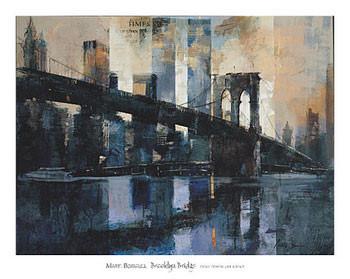 Impressão artística Brooklyn Bridge