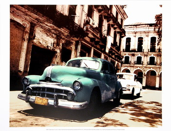 Impressão artística Cuban Cars II