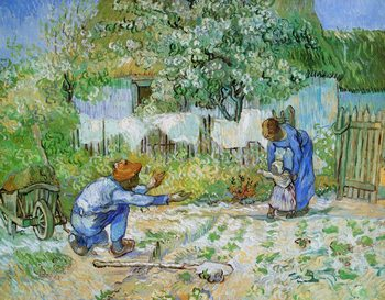 Impressão artística First Steps (after Millet), 1890
