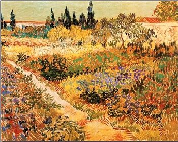 Impressão artística Flowering Garden with Path, 1888