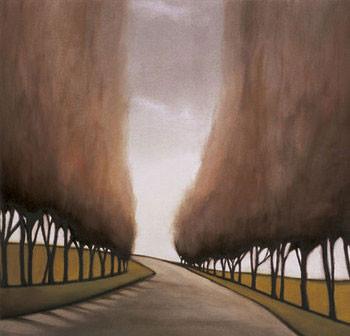Impressão artística Forest Road I