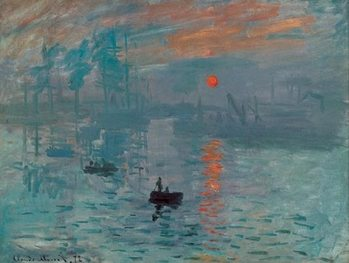 Impressão artística Impression, Sunrise - Impression, soleil levant, 1872