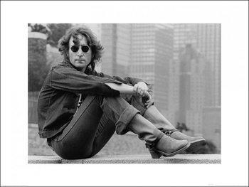 Impressão artística John Lennon - sitting