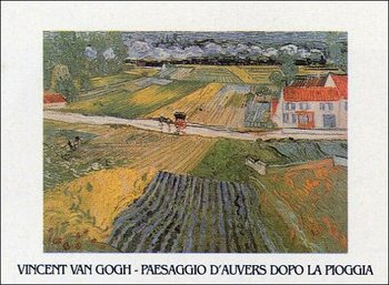 Impressão artística Landscape at Auvers after the Rain, 1890