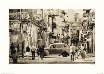 Impressão artística Lee Frost - Havana Street, Cuba