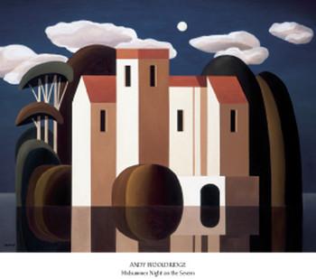 Impressão artística Midsummer Night on the Severn