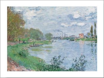 Impressão artística On the Bank of the Seine