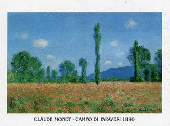 Impressão artística Poppy Field in Giverny, 1890