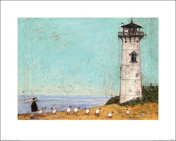 Impressão artística Sam Toft - Seven Sisters And A Lighthouse
