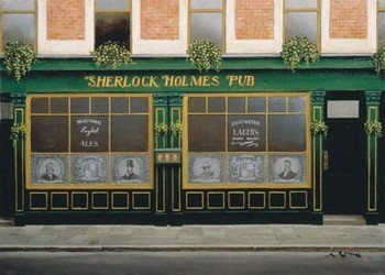 Impressão artística Sherlock Holmes Pub