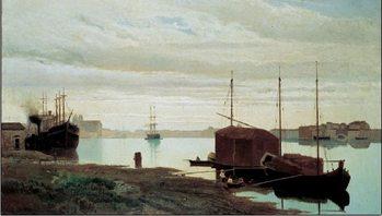 Impressão artística The Giudecca Canal - Il canale della Giudecca, 1869