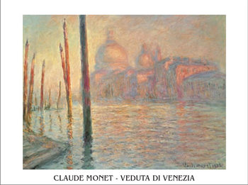 Impressão artística The Grand Canal and Santa Maria della Salute in Venice, 1908