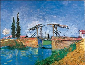 Impressão artística The Langlois Bridge at Arles, 1888
