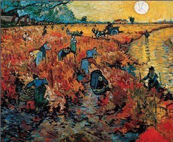 Impressão artística The Red Vineyards near Arles, 1888