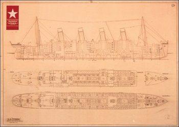 Impressão artística Titanic - Plans