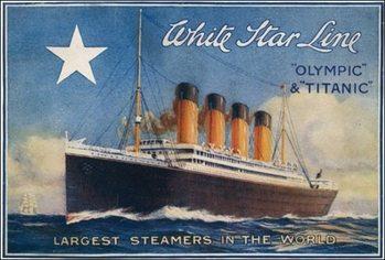 Impressão artística Titanic - White Star Line