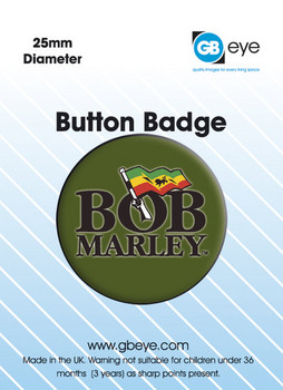 BOB MARLEY - logo Badge