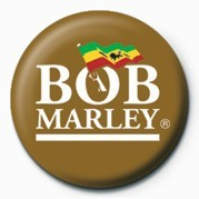 BOB MARLEY - logo Badge