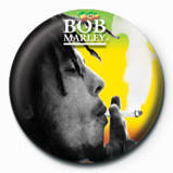 BOB MARLEY - smoking Badge