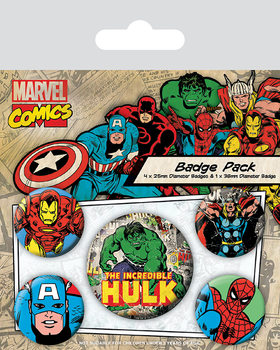 Marvel Retro - Hulk Badge Pack