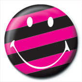 SMILEY - stripy Badge