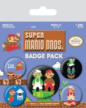 Super Mario Bros. - Retro Badge Pack