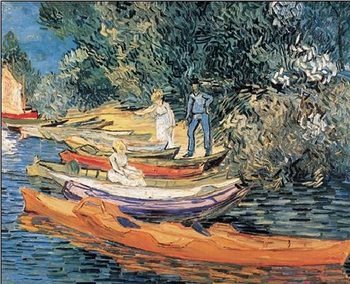 Bank of the Oise at Auvers, 1890 Reproduction d'art