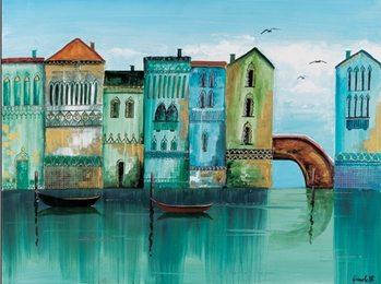 Blue Venice Reproduction d'art
