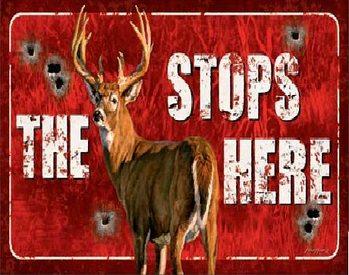 Buck Stops Here Plaque métal décorée
