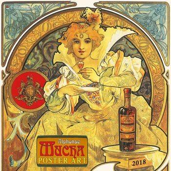 Calendário 2018 Alphonse Mucha - Poster Art