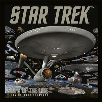 Calendário 2018 Star Trek: Ships Of Line
