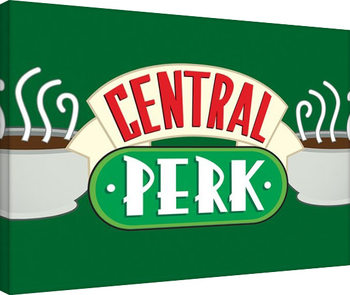 Friends - Central Perk Crop Green Canvas Print