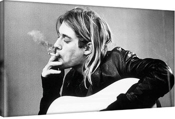 Kurt Cobain - smoking Canvas Print