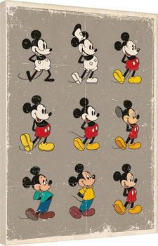 Mickey Mouse - Evolution Canvas Print
