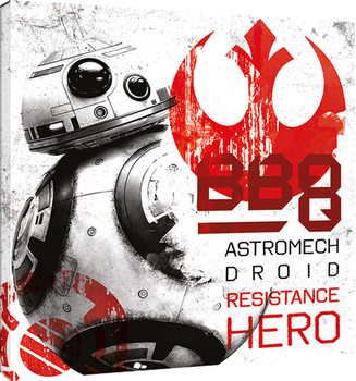 Star Wars The Last Jedi - BB-8 Resistance Hero Canvas Print