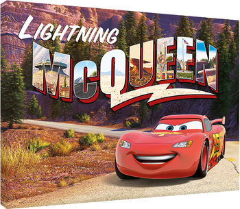 Autot - Lightning Mcqueen Mountain Drive Canvas-taulu