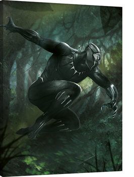 Black Panther - Forest Chase Canvas-taulu