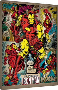 Iron Man - Retro Canvas-taulu