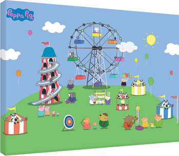 Pipsa Possu - Fairground Canvas-taulu