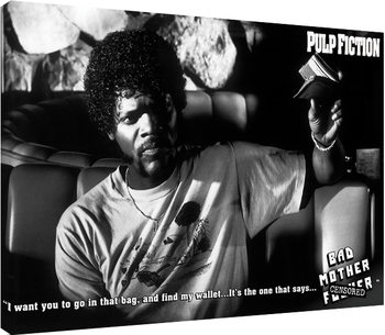 Pulp Fiction - Bad Mother F**ker Canvas-taulu