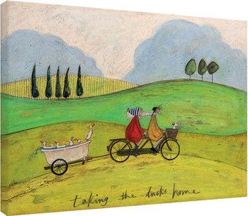 Sam Toft - Taking the Ducks Home Canvas-taulu