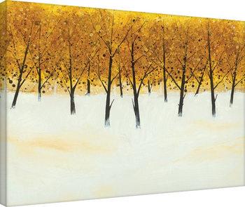 Stuart Roy - Yellow Trees on White Canvas-taulu