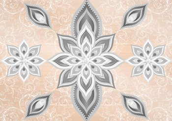 Papel de parede Abstract Pattern Silver Gold