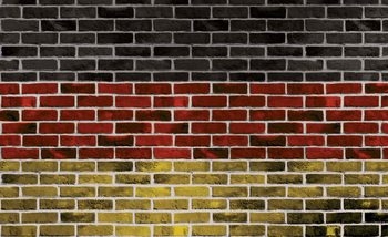Papel de parede Brick German Flag