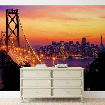 Papel de parede City Skyline Golden Gate Bridge