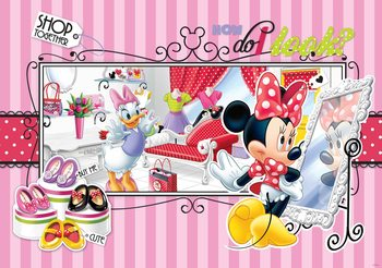 Papel de parede Disney Minnie Mouse Daisy Duck
