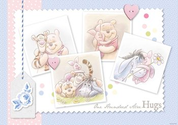 Papel de parede  Disney Winnie Pooh Piglet Eeyore Tigger