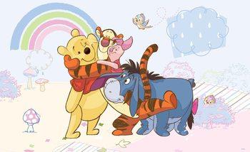 Papel de parede  Disney Winnie Pooh Piglet Tigger Eeyore