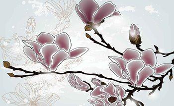 Papel de parede Flowers Magnolia Branch