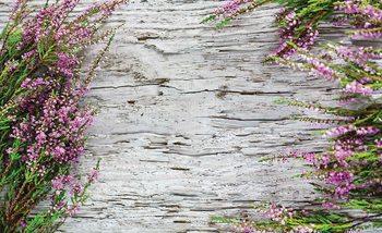 Papel de parede Flowers Wood